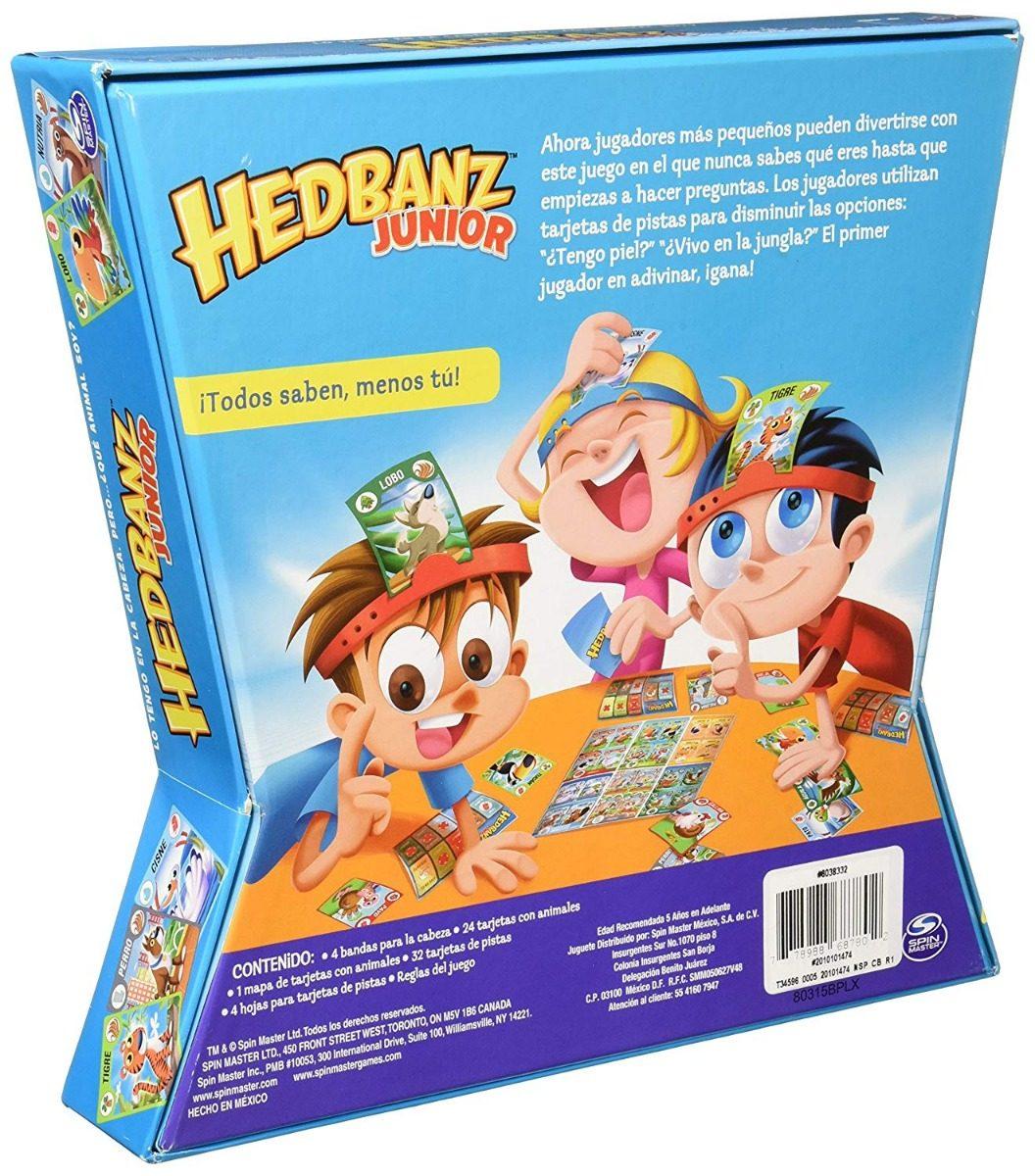 Spin Master Hedbanz Junior Juego De Mesa 219 00 En Mercado Libre