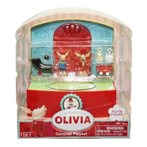 spin master olivia pink pig carnival playset