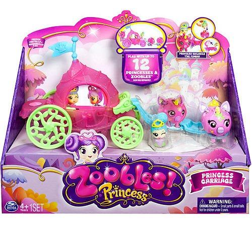 spin master zoobles princess carriage mini juego set