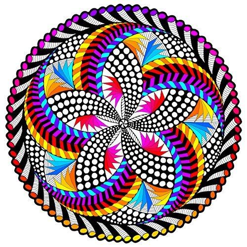 'spin me' fuzzy velvet mandala - 20x20 pulgadas - póster