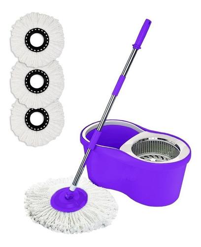 spin mop giratório cesto inox próprio para faxinas + 3 refis