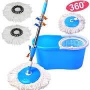 spin mop trapeador magico 360 grados lavado y centrifugado