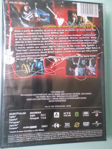spinal tap  -documental de heavy metal- dvd 100% original