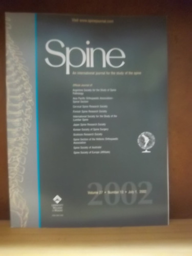 spine an international journal for the study on the spine 13