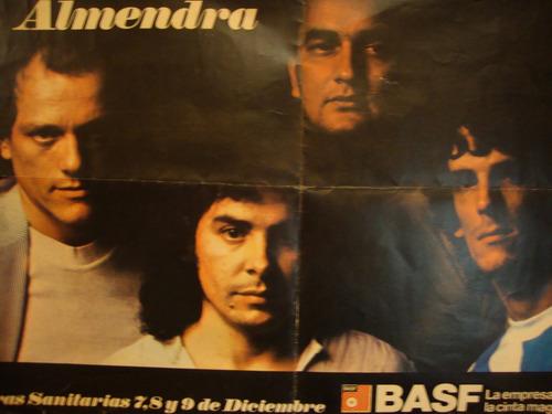 spinetta almendra estadio obras (afiche diciembre 1979)