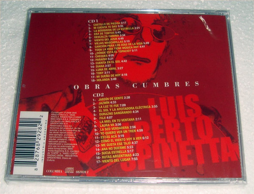 spinetta obras cumbres cd doble sellado