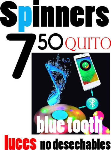 spinner fifget bluetooth, luces y exagonal de titanio
