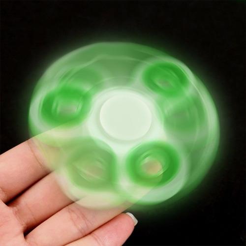 spinner fosforescente 3 baleros brilla oscuridad cube fidget