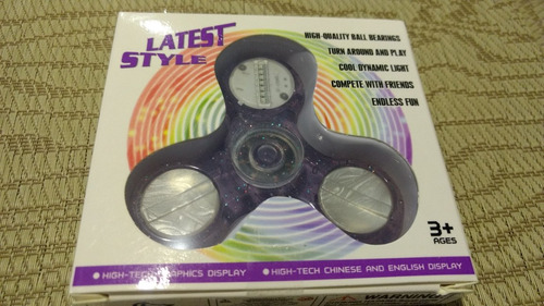spinner led juguete de mano