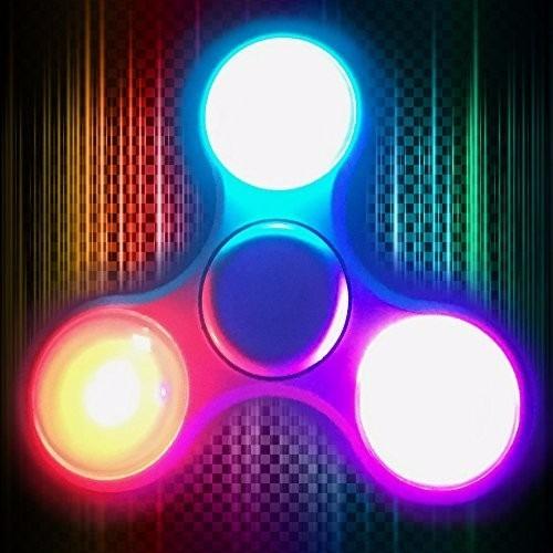 spinner luces led fidget juguete anti estres ansiedad n2m