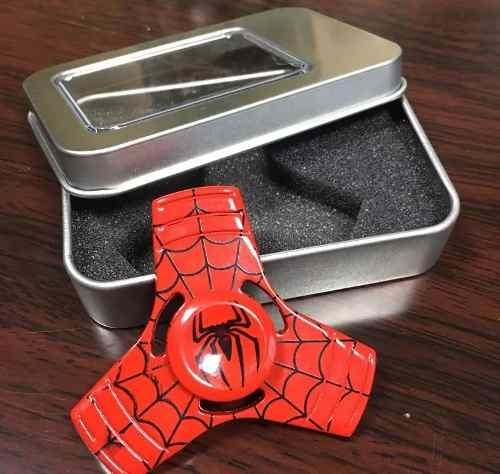 spinner metálico aluminio liso spider iron man belgrano
