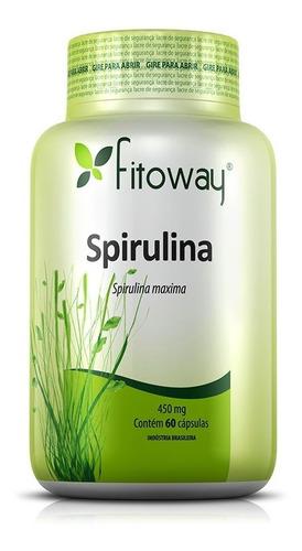 spirulina 450mg - fitoway - 2x60 cápsulas