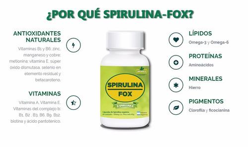spirulina-fox promo 3 frascos de 80 comprimidos