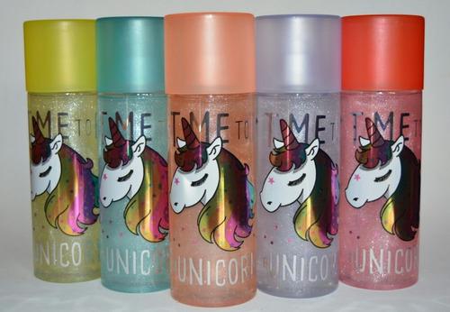 splash unicornio arcoiris aromas frutales niña mujer