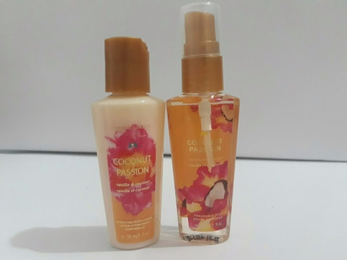 splash y crema victoria secret coconut combo mini viajero
