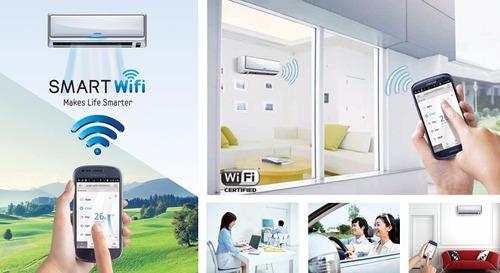 split de semi-inverte pared premiun con wifi 36000btu