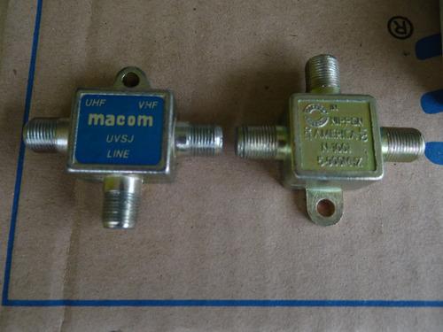 spliter-combinador de antena alto-bajo de banda vhf hlsj