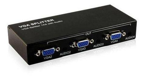 spliter vga 1x4 portas suport 550 mhz
