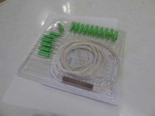splitter con/sin conector 1x8 fibra óptica sc/upc- sc/ap