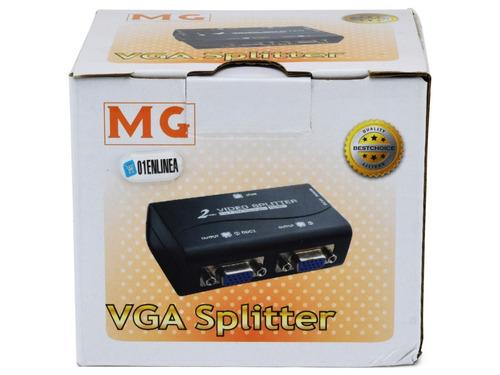 splitter distribuidor vga 1x2 amplificador soporta 1920x1440