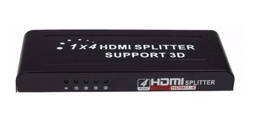 splitter divisor de cabo hdmi 1x4 hdcp full hd 1.4