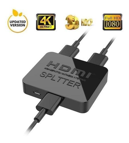 splitter hdmi 1 entrada 2 salidas 1080p v1.4 ps4 titan belgr