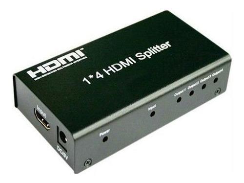 splitter hdmi 1*4 divisor de señal amplificador conecta 4 tv