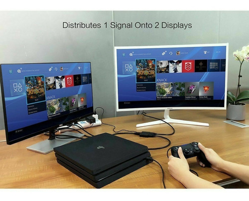 splitter hdmi 1x2 activo tv led lcd 3d version 1.4 1080p ps3
