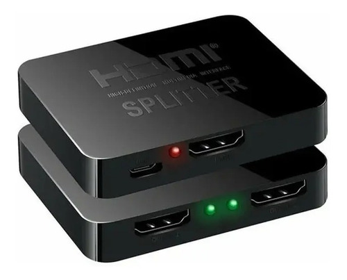 splitter hdmi activo 1x2 1080p 4k pc consola streaming