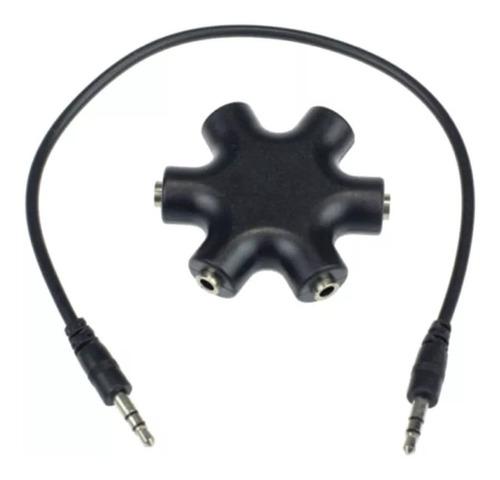 splitter hub jack 3.5 mm + cable adaptador + envio gratis