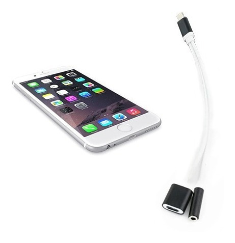 splitter iphone mini plug 3.5mm carga auriculares 7 8 x xs