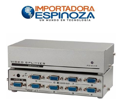 splitter multiplicador  vga de 8  puertos, 250 mhz