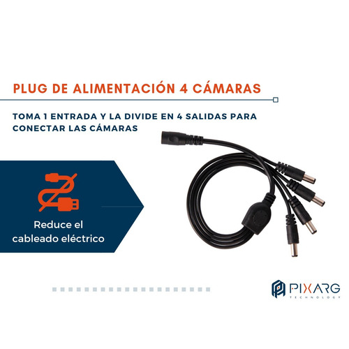 splitter pulpito 1x4 1a4 p/ fuente cctv camara seguridad led