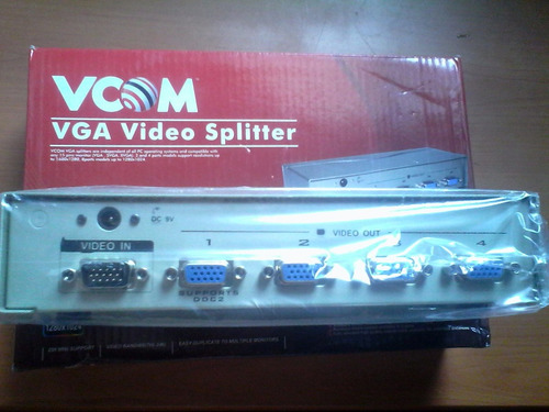 splitter switch vga video vcom 4 vías.