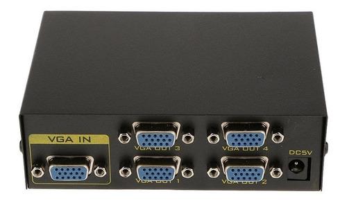 splitter vga 4 salidas modelo 2504a 250mhz 1920x1440 amplifi