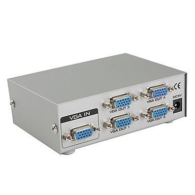 splitter vga para1 cpu y multiplicar señal a 4 monitores vga
