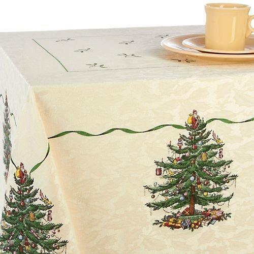 spode árbol de navidad mantel 60 \x 104\