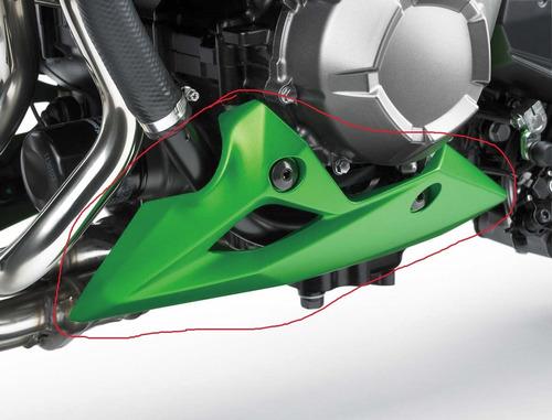 spoiler esquerdo / carenagem inferior do motor kawasaki z800