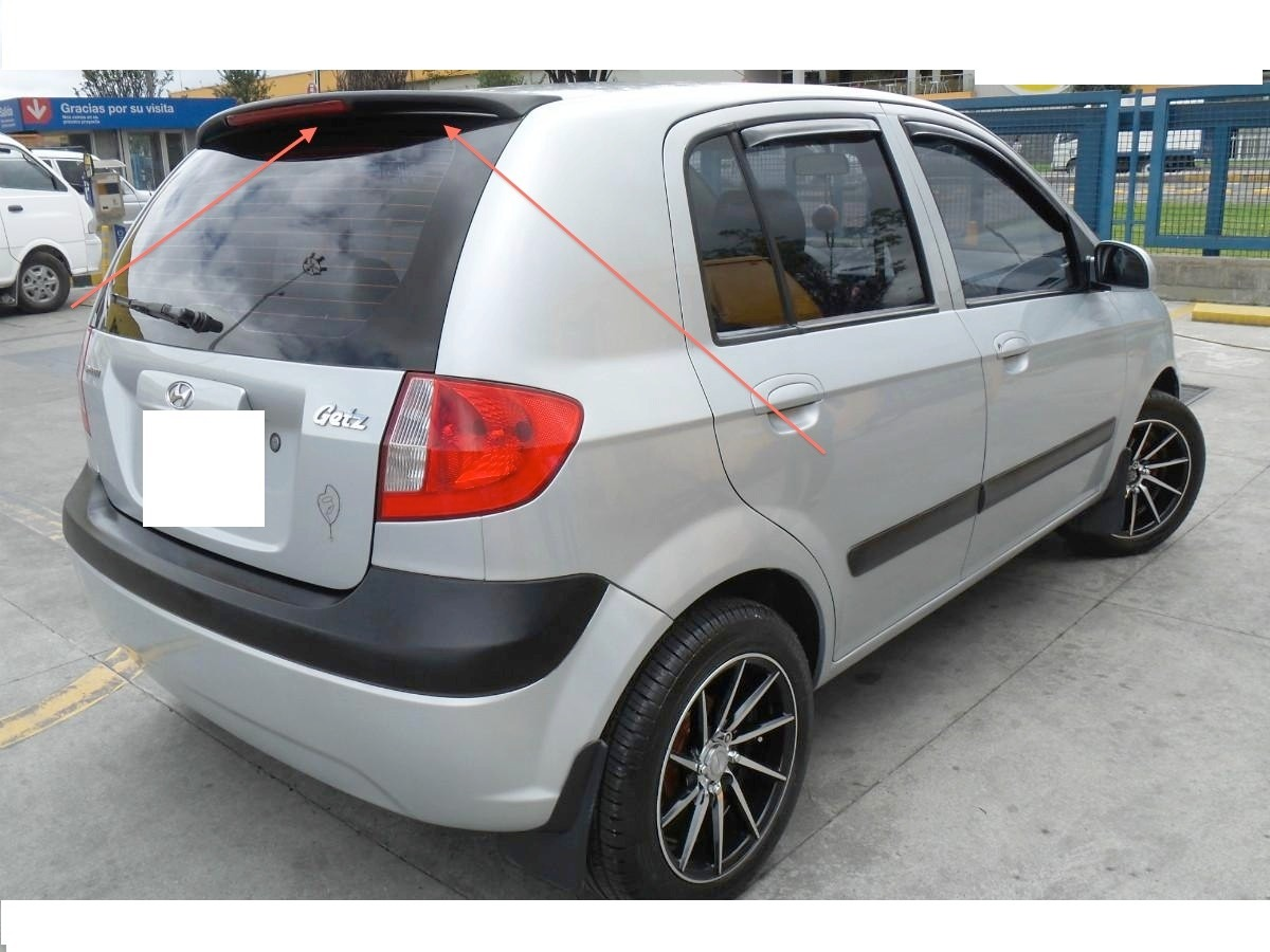 spoiler hyundai getz accesorios lujo tuning en. Black Bedroom Furniture Sets. Home Design Ideas