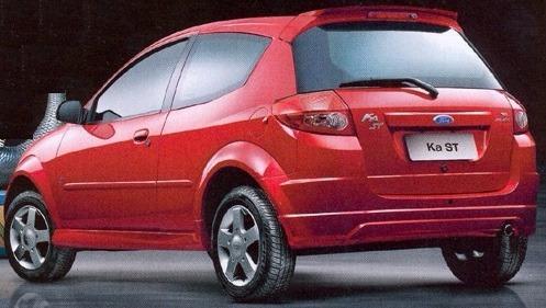 spoiler traseiro vermelho ford ka 2008 2009 2010 2011