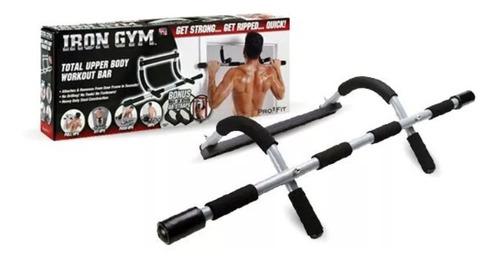 sport barra dominadas para puerta  iron gym