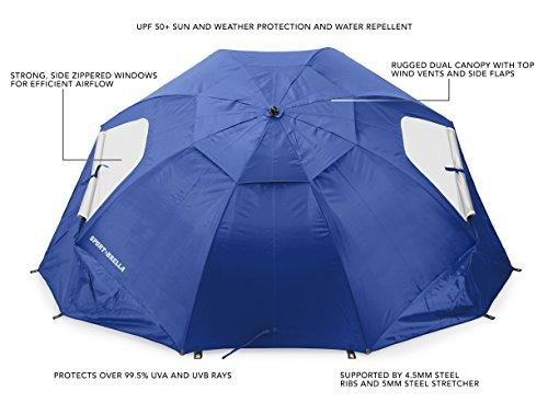 sport-brella portable all-weather y sun umbrella. toldo de 8