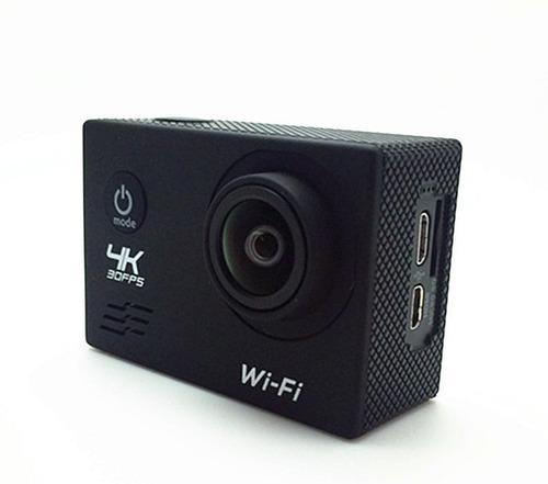 sport cam deportiva wifi 1080p rf 4k sumergible 30m negra