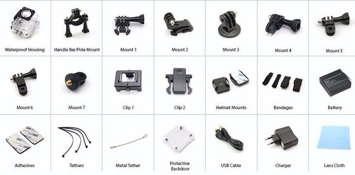 sport cámara 1080 hd wifi/moto/carro regalia batería