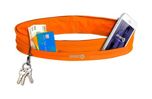 sport in cinturon porta celular fitness deportivo naranja