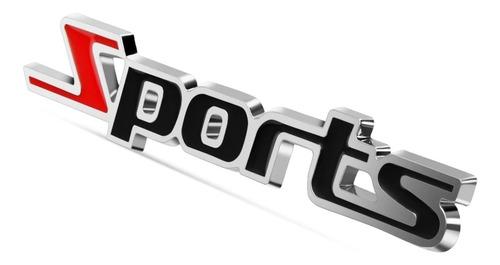 sports emblema de metal para auto moto y camioneta