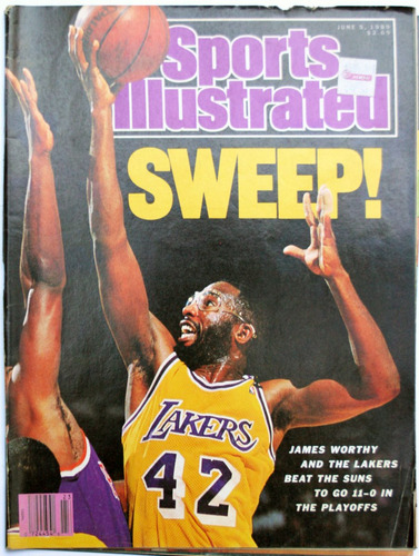 sports ilustrated lakers sweep the suns thomas hearns 1989