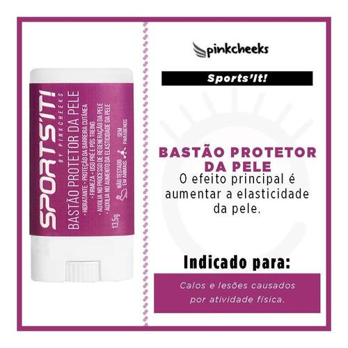 sports it pinkcheeks bastão protetor da pele hidratante