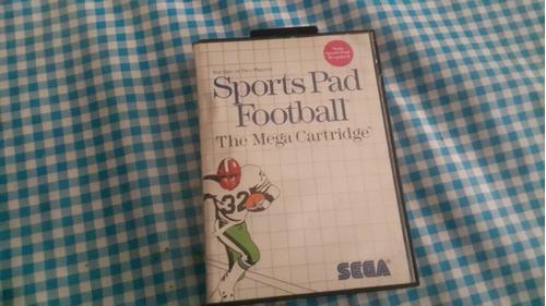 sports pad football sega master sistem