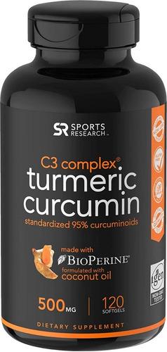 sports research c3 complex turmeric curcumin 500mg 120 caps